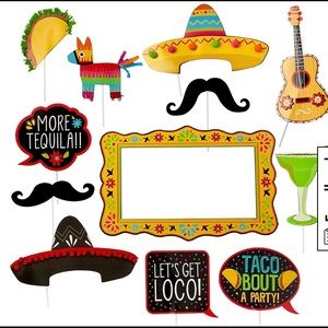 Jumbo Fiesta Photo booth props 12 pc